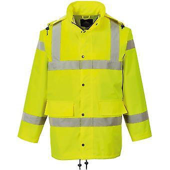 Portwest メンズこんにちは視認性通気性軽量防水ジャケット