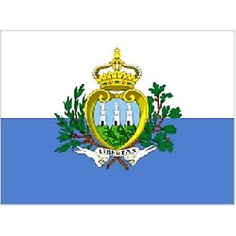 San Marino/Sammarinese Flag 5ft x 3ft (100% Polyester) With Eyelets