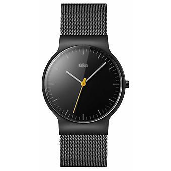 Braun Mens sort Mesh stroppen svart Dial BN0211BKMHG Watch