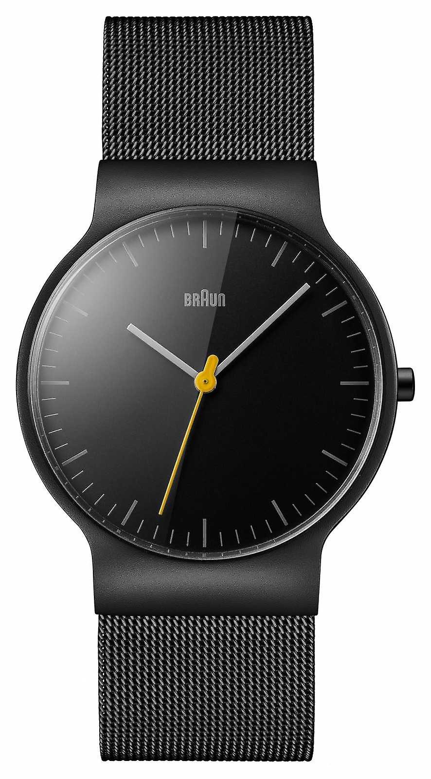 Braun Mens Black Mesh Strap Black Dial BN0211BKMHG Watch