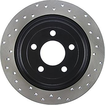 StopTech 128.61111L Sport Cross Drilled Brake Rotor (Rear Left), 1 Pack