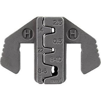 TOOLCRAFT PLE-0H Terminales de cuchilla de engarce, enchufes D-Sub Zona de crimpado: 2.5 hasta 10 mm2 Adecuado para la marca: TOOLCRAFT PZ-500