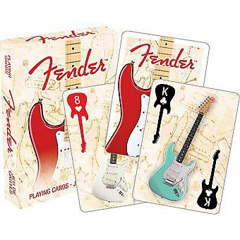 Fender Stratocaster (blek boks) sett med 52 spillkort (52389)