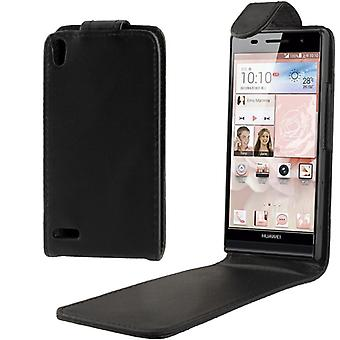 Cell phone cover case (flip) for Huawei Ascend P6 black