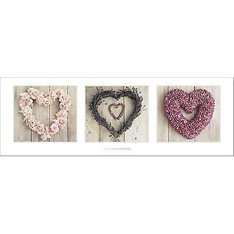 Amor corazones Poster Howard shooter flor corazón collage cortes T rposter
