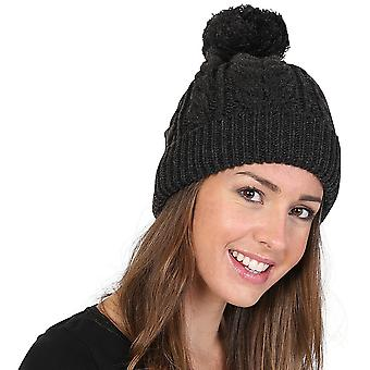 Outdoor Look Womens Achfary Cable Knit Heavy Snowstar Beanie