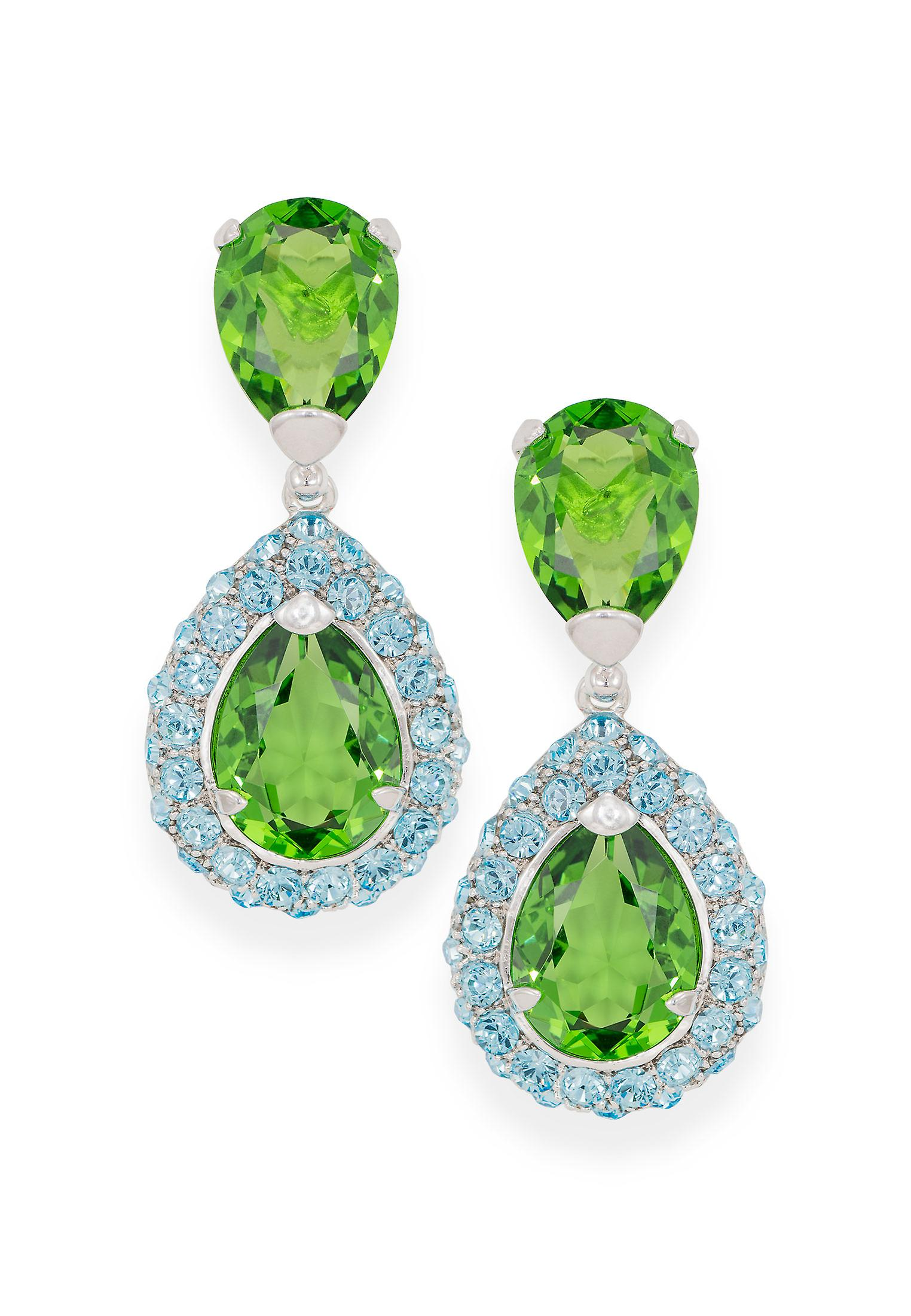 Green earrings with Crystals from Swarovski 4807