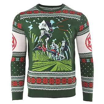 Star Wars Christmas Jumper Return of the Jedi Battle of Endor new Official Green