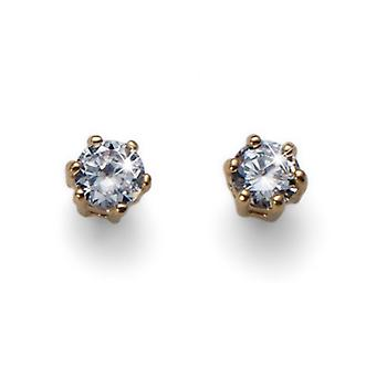 Oliver Weber Post Earring Brilli Small Gold Crystal