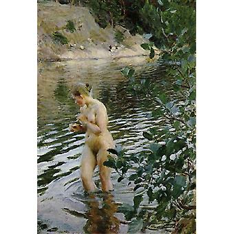 Shivering pige, Anders Zorn, 60x40cm