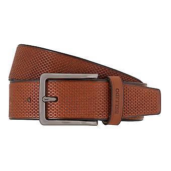 MIGUEL BELLIDO clasico belts men's belts leather belt Cognac 7690