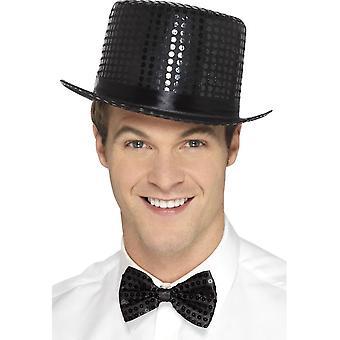 الترتر قبعة، أسود