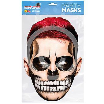 Dag van de dode kaart maskeren rood haar