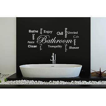 Bathroom Words Wall Sticker Quote