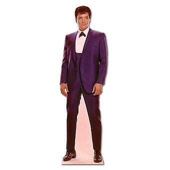 Elvis 1960s Wearing Blue Suit - Lifesize Cardboard Cutout / Standee