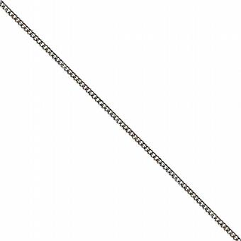 18ct White Gold 1mm wide bright cut Curb Pendant Chain 16 inches Only Suitable for Children