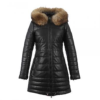 Oakwood Oakwood Mary Cuir Mouton Downtown WomensLong Quilted Jacket