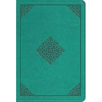 ESV-Wert großer Print kompakte Bibel (Trutone, Teal, Ornament Design)