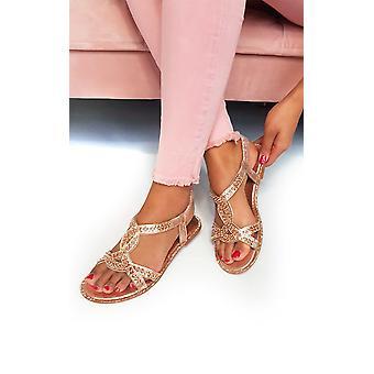 IKRUSH Womens Willow Diamante verfraaid sandalen