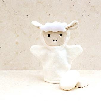 Spring Lamb bath mitt