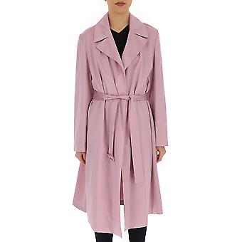 Theory I1204404xma Women's Pink Cotton Coat