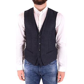 Antony Morato Exzbc147002 Men's Blue Wool Vest