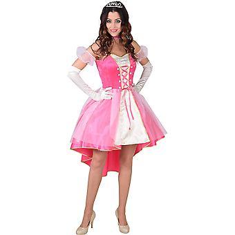 Vrouwen kostuums roze prinses voor volwassenen