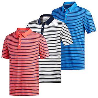 Adidas Golf mens Climachill 3-kleuren gestreept Polo shirt