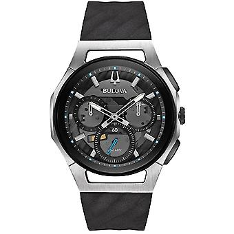 Bulova Rubber Chronograph Mens Watch 98A161