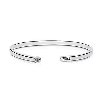 Rice University Engraved Sterling Silver Diamond Cuff Bracelet