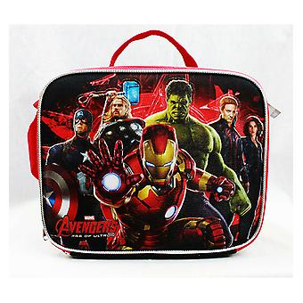 Lunch Bag - Marvel - Avengers All Heroes Black/Red New a02259