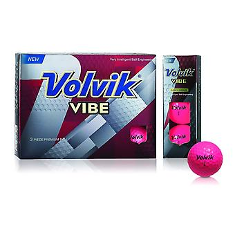 Volvik Vibe Golf Balls Pink 1 Dozen