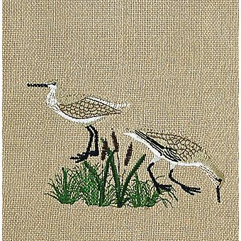 Seagulls Coastal Birds Embroidered Kitchen Towel 28 Inches