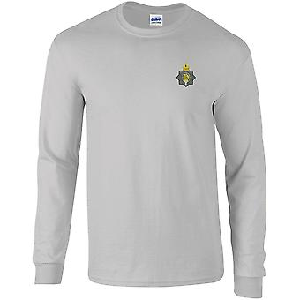 Première The Kings Dragoon Guards WW1 - Licensed British Army Embroidered Long Sleeved T-Shirt