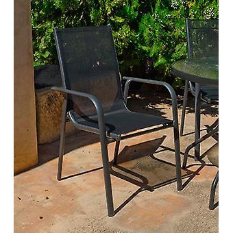 Wellindal Armchair aluminiom and textilen teluro 3 (Garden , Others)