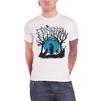 Ed Sheeran T Shirt Woodland Gig divide logo new Official Mens White