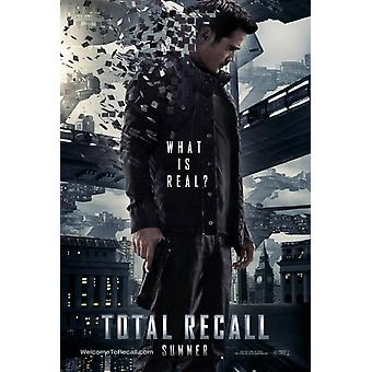 Total Recall Poster Double Sided Advance (2012) Original Cinema Poster
