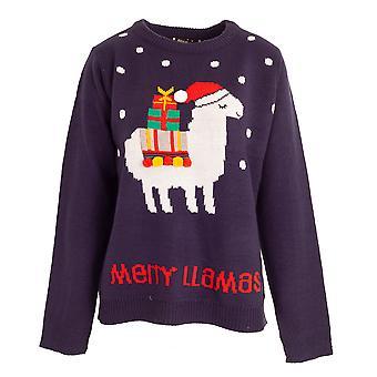 Brave Soul Mujeres/Señoras Navidad 'Merry Llamas' Jumper