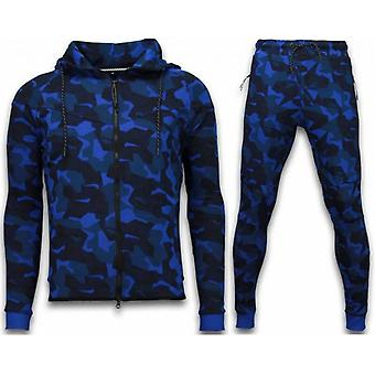 Windrunner Camo Tracksuits - Camouflage Jogging Suit - Blue