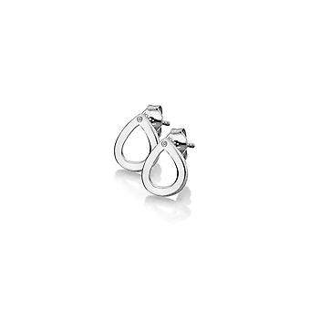 Hot Diamonds Sterling Silver Diamond Amulets Teardrop Earrings DE615