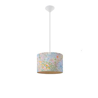 Sollux 1 Light Cylindrical Ceiling Pendant Multi-Color SL.0556