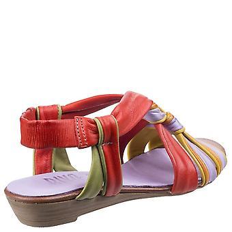 Riva Womens/damer Cala läder Slingback Strappy sandaler