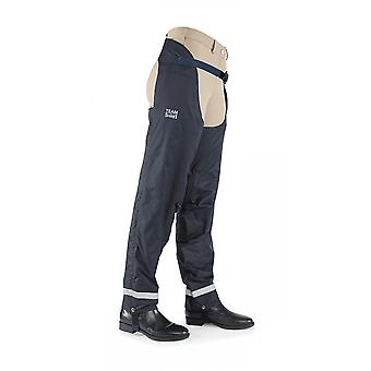 Shires Team Waterproof Adults Chaps - Navy Blue