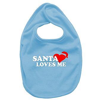 Bavaglino neonato turchese dec0285 santa loves me