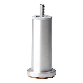 Pyöreä alumiininen kaluste jalka 12 cm (M10)