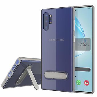Hoesje Kickstand voor Samsung Note 10 Transparant Zilver