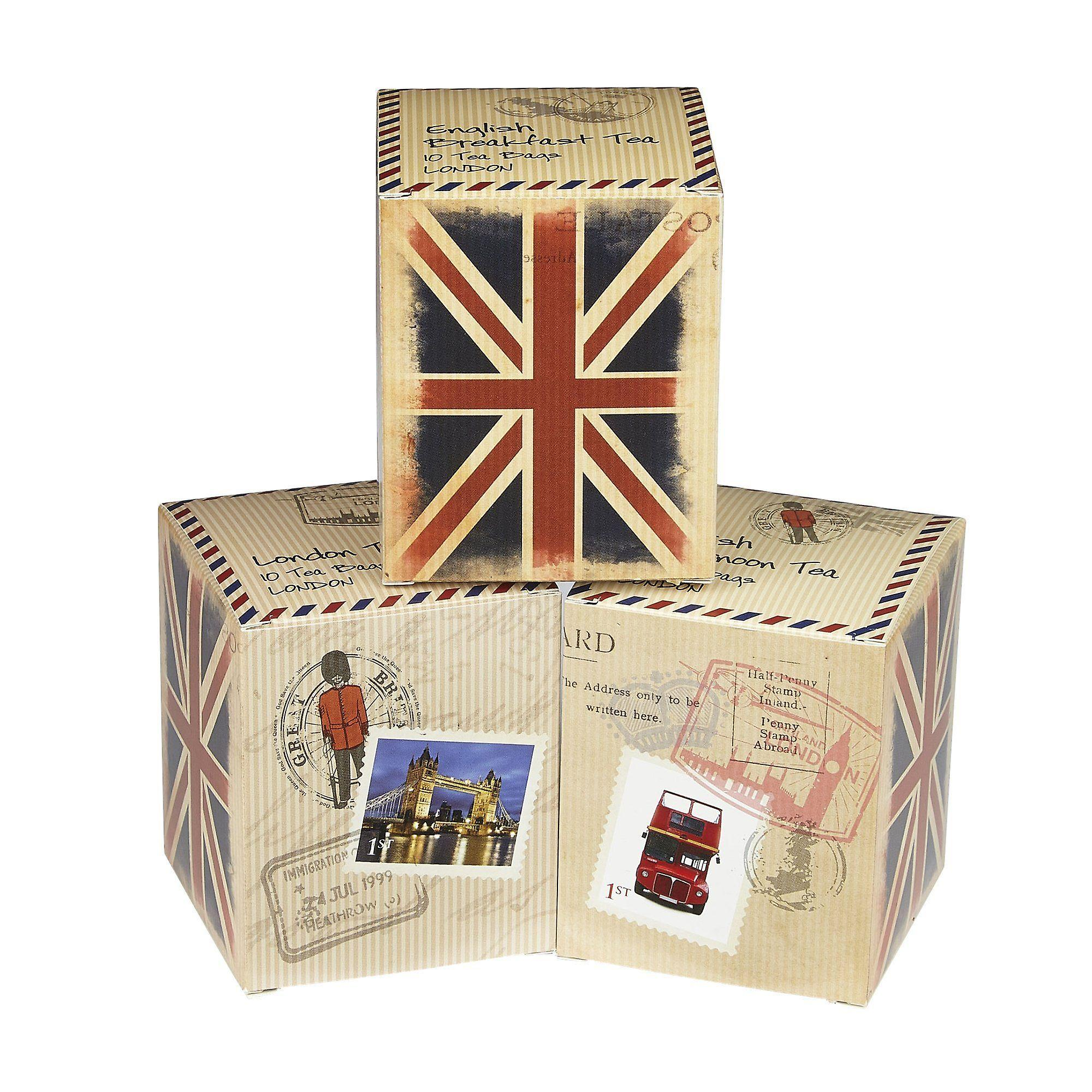 Travel memories triple english tea carton gift pack