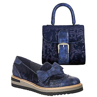 Ruby Shoo Women's Joanne Loafer Shoes & Matching Riva Bag