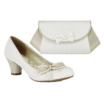 Ruby Shoo Women's Lily Mary Jane Pumps & Matching Palma Bag
