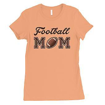 Calcio mamma donne peach carino sport mamma tee camicia per mamma regalo